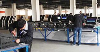 微巴科技访客机产品组装线
